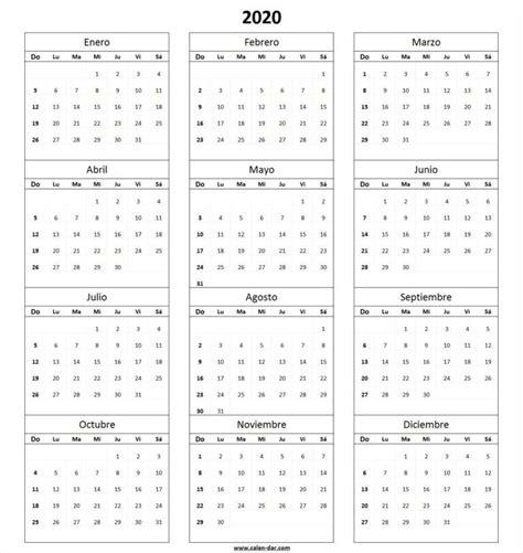 calendario en blanco imprimir planificadores