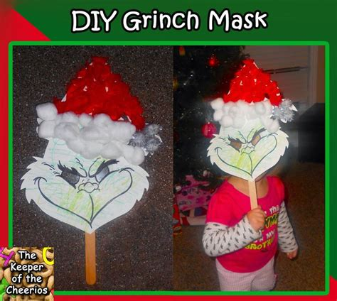 grinch mask ideas  pinterest grinch