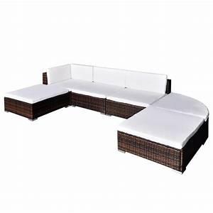Polyrattan Lounge Set : vidaxl 16 piece garden lounge set brown poly rattan ~ Whattoseeinmadrid.com Haus und Dekorationen