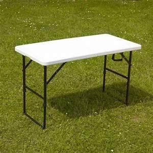 table pliante portable camping 122 cm achat vente table With wonderful desserte de jardin en plastique 3 table de jardin pliante