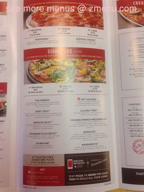 China Garden Wooster Ohio by Menu Of Donatos Pizza Restaurant Wooster Ohio
