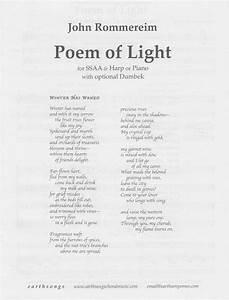 Poem of light ssaa s 332 230 earthsongs one for Lamp light poem