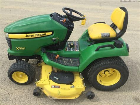 deere x500 attachments deere x500 lawn garden tractors for 53362 4906