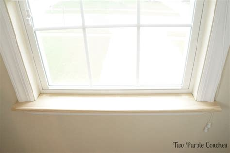 Window Sill by How To Replace An Interior Window Sill Two Purple Couches