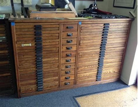 Printers Type Cabinet by 48 Drawer Oak Hamilton Type Cabinet And Cases Briar