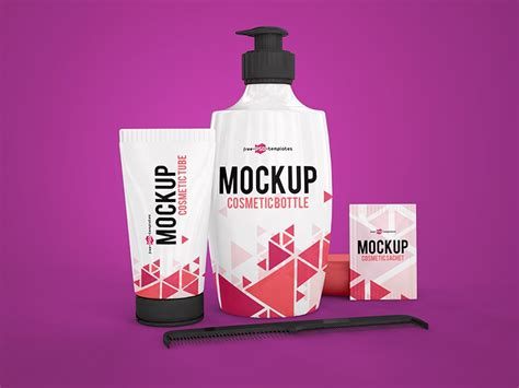The biggest source of free photorealistic magazine mockups online! 3 Free Cosmetic Mock-ups in PSD by Mockupfree | Dribbble ...