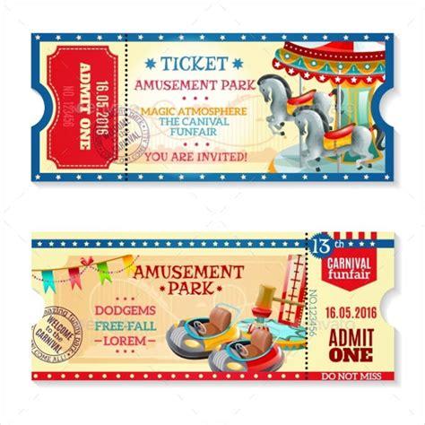 carnival ticket templates  psd ai vector eps