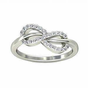 Sparkling infinity ring diamond engagement ring 025 carat for Infinity design wedding ring