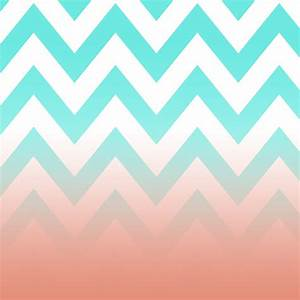 Mint And Coral Chevron Background | www.imgkid.com - The ...