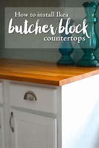 how to install a countertop How to Finish Ikea Butcher Block Countertops — Weekend Craft