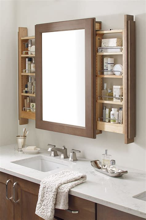 vanity mirror with side cabinets vanity mirror cabinet with side pullouts