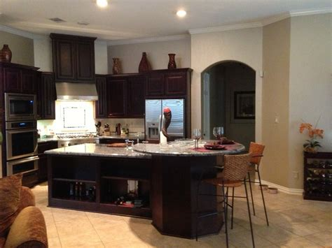oddly shaped kitchen island