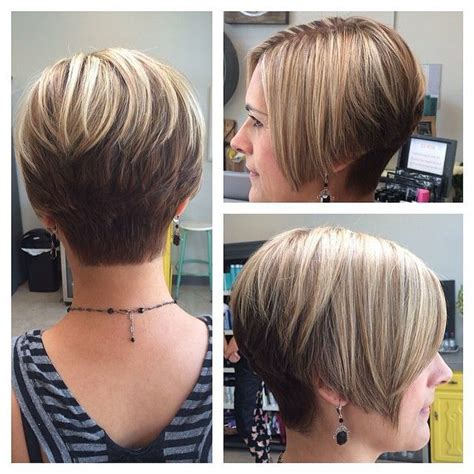 Pixie Stacked Hairstyles by Growing Out Pixie Layered Graduated Cut With