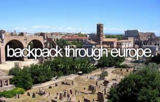 Backpack through Europe Bucket List
