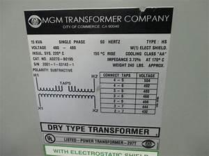 Mgm Ad270-b0195 15kva Transformer 480v