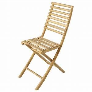 Chaise Pliante De Jardin : chaise pliante de jardin en bambou robinson maisons du monde ~ Teatrodelosmanantiales.com Idées de Décoration