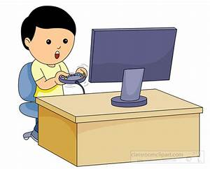 Boy On Computer Clipart - Clipart Suggest