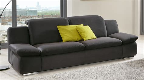 sofa isona 3 sitzer stoff anthrazit mit komfortfunktion