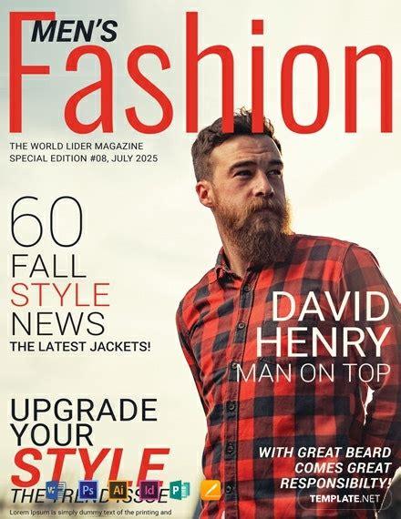 FREE Men's Fashion Magazine Cover Template - Word (DOC ...