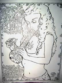 babes  bongs coloring book  pages  adult marijuana coloring fun ebay
