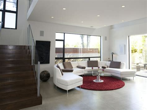 roter teppich wohnzimmer 30 runde teppiche und beispiele wie den zimmer look vollendet