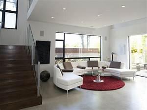 Teppich Im Wohnzimmer : 30 runde teppiche und beispiele wie man den zimmer look vollendet ~ Frokenaadalensverden.com Haus und Dekorationen
