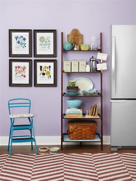 Decorating Bookshelves With Baskets by 5 Ways To Use A Ladder Shelf Hgtv