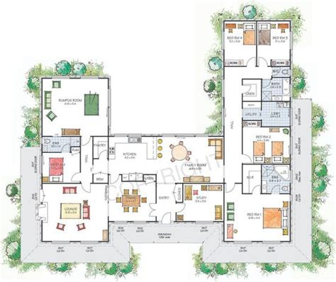 house plans  shaped  courtyard house plans