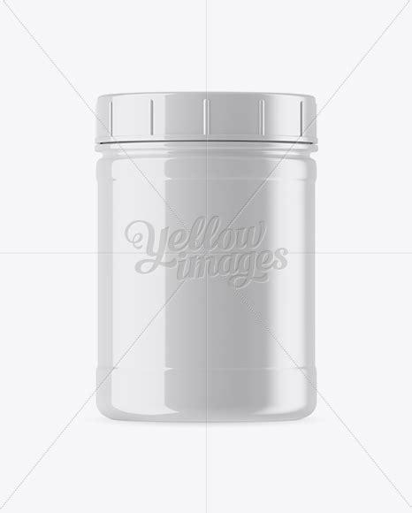 Plastic bag with penne pasta mockup. Glossy Plastic Protein Jar Mockup in Jar Mockups on Yellow ...