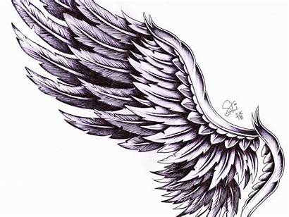 Wing Wings Tattoo Chest Angel Dribbble Drawing