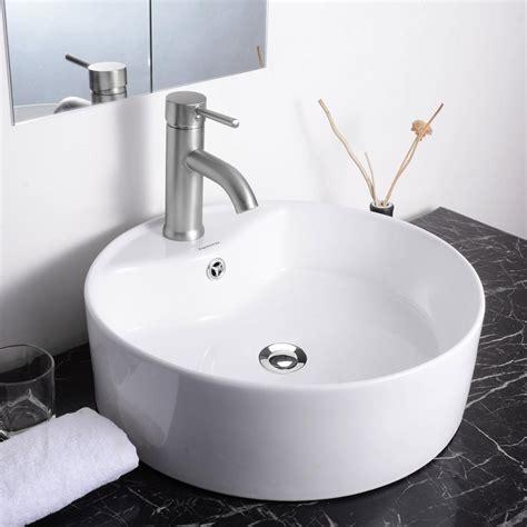 draining bathroom sink and tub aquaterior porcelain ceramic bathroom vessel sink basin w