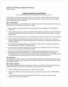 College Admission Essay Outline