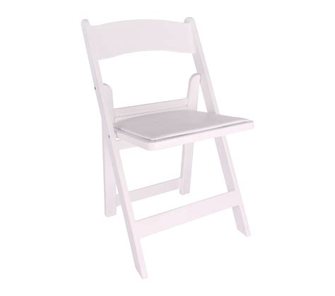 chair white resin folding chair with padded seat