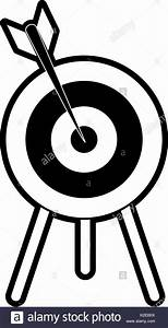 Archery Target Board Black And White Stock Photos  U0026 Images