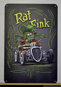 Rat Fink Hot Rod Art