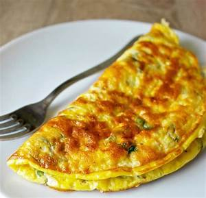 Greek Omelette with Feta Cheese and Fresh Mint