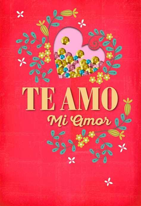 te amo mi amor spanish language love card greeting