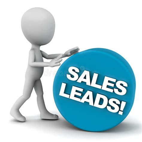 Sales leads stock illustration. Illustration of make ...