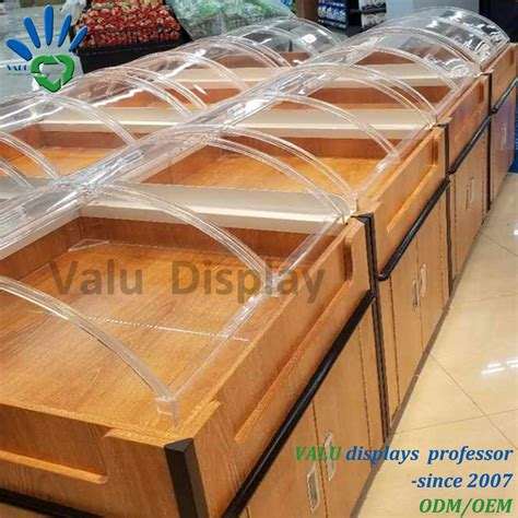 china supermarket food  acrylic box containers acrylic