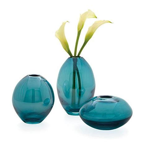 Teal Colored Vases by Torre Tagus 901431 Mini Lustre Vases Assorted Turquoise