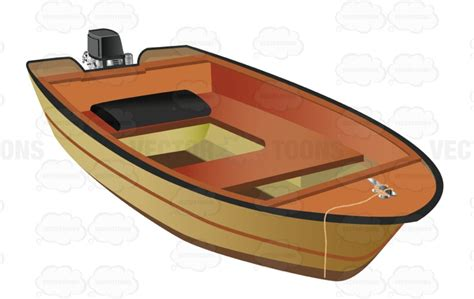 Little Boat Cartoon by Small Motor Boat Used For Fishing Vector Clip Art Cartoon