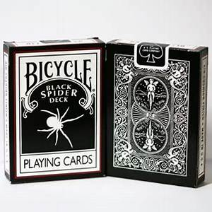 CARD MAGIC :: BICYCLE CARDS - BLACK SPIDER DECK