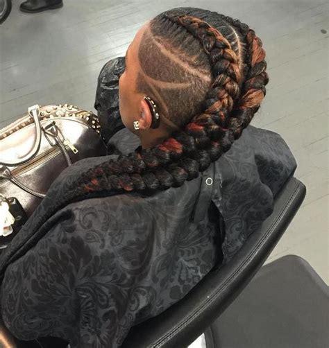 trendy ways  wear braids  shaved sides