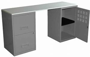 Bureau En Metal : bureau design en m tal alu ~ Nature-et-papiers.com Idées de Décoration