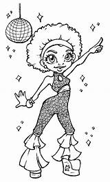 Coloring Pages Queen Disco Stamps Adult Cool Books African Colouring Sheets American Outline Dance Digi Drawings Stamp Digital Discos Party sketch template