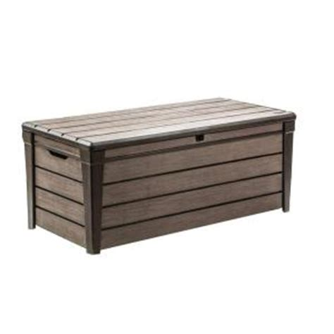Keter Deck Box Home Depot by Keter Brushwood 120 Gal Resin Deck Box 227329 The Home