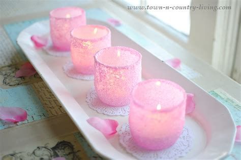 pink votive candle holders diy pink frosted votive candle holders town country living