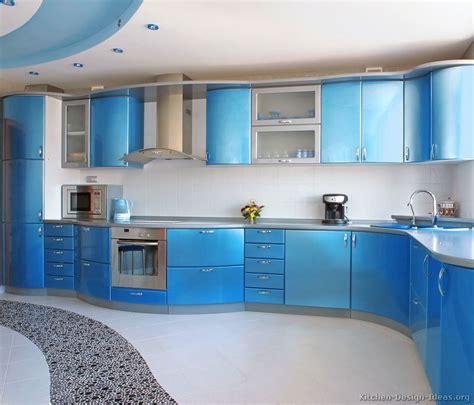 Modern Blue Kitchen Cabinets  Pictures & Design Ideas