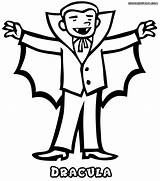Coloring Dracula Vampire Halloween Outline Clipart Printable Colorings Cliparts Costume Clip Vampires Colouring Colour Cloak Library Thecolor Count Getdrawings Getcolorings sketch template