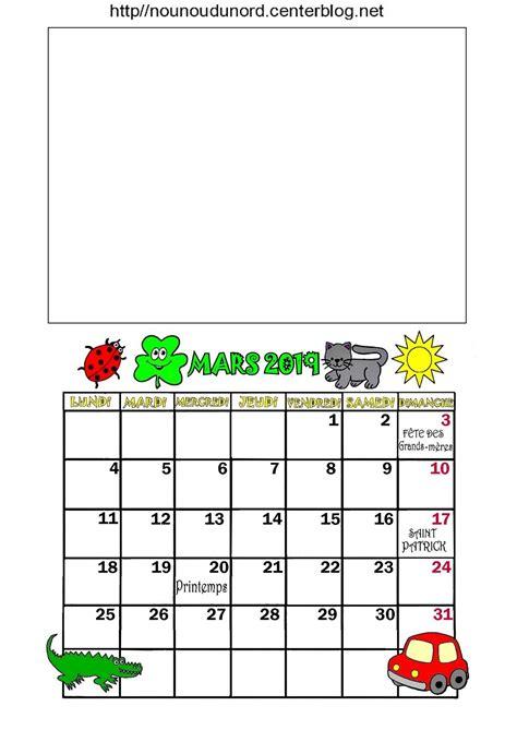 calendrier annee  mois de mars